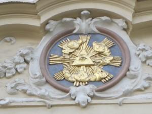 O símbolo da segunda fachada ampliado