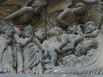 Chartres, o portal sul, mostrando um pequeno pedaço do inferno