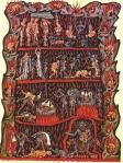 Hortus Deliciarum - Inferno do Séc. XII (Hölle) Artista: Herrad von Landsberg (cerca de 1180)