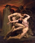 Dante e Virgil no Inferno (1850) de William-Adolphe Bouguereau.